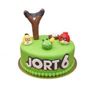 Angry Birds 3D taart (1 laag) bezorgen in Den haag