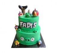 Angry Birds 3D taart (2 lagen) bezorgen in Den Haag