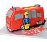 Brandweerautotaart bezorgen in Leiden