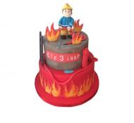 Brandweerman Sam 3D taart bezorgen in Leiden