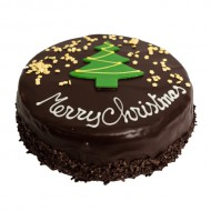 Chocolade Kersttaart bezorgen in Leiden