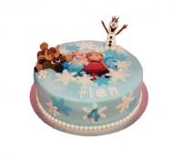 Frozen 3D taart bezorgen in Leiden