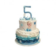 Frozen Elsa 3D taart bezorgen in Leiden