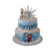 Frozen Olaf 3D taart bezorgen in Den Haag