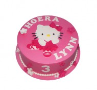 Hello Kitty roze 3D taart bezorgen in Leiden