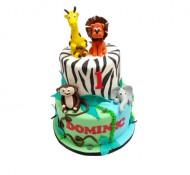 Jungle Dieren 3D taart bezorgen in Leiden