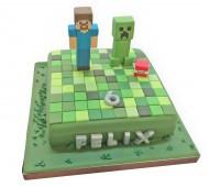 Minecrafttaart bezorgen in Leiden