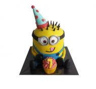Minion jongen 3D taart bezorgen in Den haag