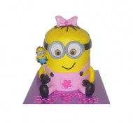 Minion meisje 3D taart bezorgen in Den haag