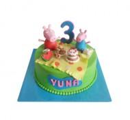 Peppa Pig (1 laag) 3D taart bezorgen in Den Haag