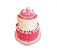 Prinses (2 lagen) 3D taart bezorgen in Den Haag