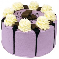 Purple Milka Crunch Layer Cake bezorgen in Den-Haag