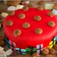 Rode marsepein taart bezorgen in Den Haag