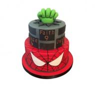 Superhelden 3D taart (2 lagen) bezorgen in Den Haag