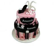 Sweet 16 (roze) 3D taart bezorgen in Eindhoven