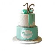 Sweet 16 (wit) 3D taart bezorgen in Den haag