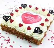 Valentijnslagroomtaart bezorgen in Den Haag