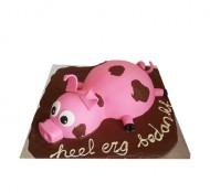 Varken in de modder 3D taart bezorgen in Leiden