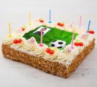 Voetbal fototaart bezorgen in Leiden