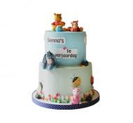 Winnie de poeh (blauw) 3D taart bezorgen in Den haag