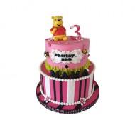 Winnie de poeh (roze) 3D taart bezorgen in Eindhoven