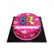 Woezel en Pip (roze) 3D taart bezorgen in Leiden